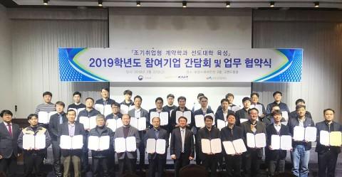 한국산업기술대학교 2019학년도 조기취업형 인재 양성 간담회 및 업무 협약식 현장