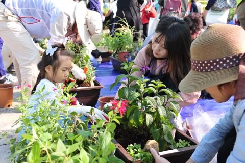 서울시민과 함께하는 정원만들기 프로그램 현장