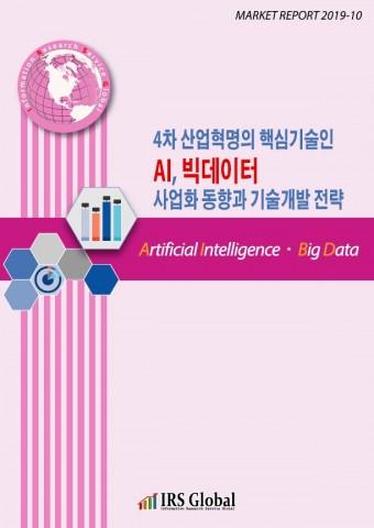 4차 산업혁명의 핵심기술인 AI, 빅데이터 사업화 동향과 기술개발 전략 보고서 표지