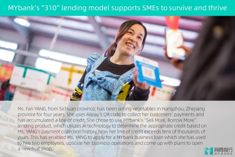 MYbank's 310 lending model supports SMEs to survive and thrive