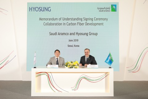 Hyosung Chairman Cho Hyun-Joon signed a memorandum of understanding with Amin H. Nasser, president a...