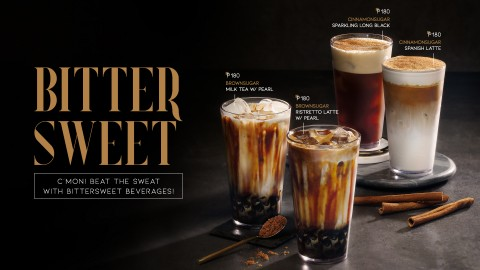 COFFEEBAY launched a lineup of BITTERSWEET beverage products. The lineup includes BROWNSUGAR MILK TE...