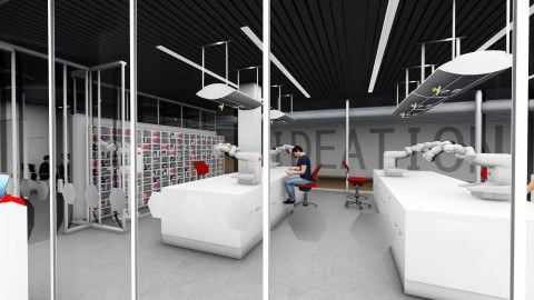 Advanced collaborative robotics for medical laboratories and hospitals