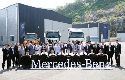 메르세데스-벤츠 트럭 대학생 대상 정비 전문가 양성 프로그램 AMT 트럭 1기가 출범했다