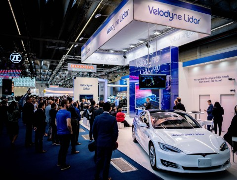 벨로다인 라이더가 2019 프랑크푸르트 모터쇼에서 벨라레이 라이더가 내장된 전기차를 선보인다