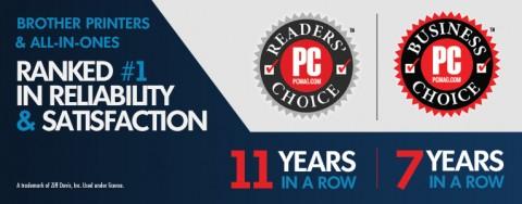 브라더가 2019 리더스 초이스 어워드에소 11년 연속 부동의 1위 프린터로 선정되었다