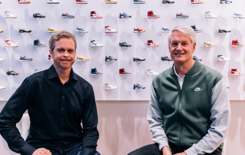 NIKE, Inc. announces Board Member John Donahoe (right) will succeed Mark Parker (left) as President ...