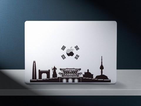서울 랜드마크 스티커 및 태극스티커 시뮬레이션 이미지
