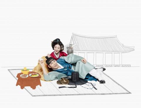 마당놀이 '춘풍이 온다' 추월 역 홍승희와 춘풍 역 김준수