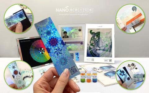 나노브릭이 HSP Asia 2019에서 선보인 보안소재를 이용한 첨단보안인쇄 응용제품