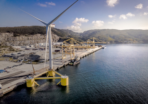 세계 최대 부유식 풍력발전 터빈으로 ABS의 등급을 받은 8.4MW 용량의 해상 풍력 터빈이 곧 설치된다