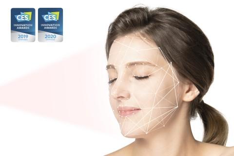 CES 2020 혁신상을 수상한 룰루랩의 루미니 홈 피부 분석 모습