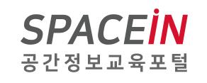 공간정보 교육포털 '스페이스인' 로고