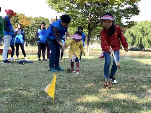 가족 단위 봉사자를 위한 어린이 에코프로그램 및 놀이프로그램 진행
