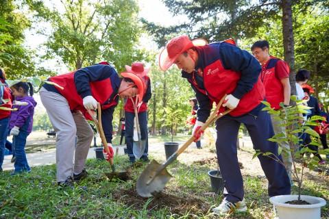 미세먼지저감을 위한 나무 1250그루 식재