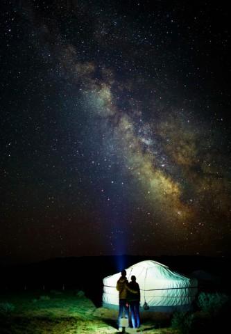 몽골 초원의 은하수