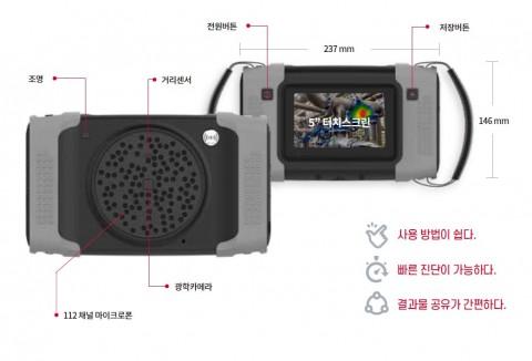 에스엠인스트루먼트 초음파 카메라 BATCAM 2.0 부위 별 기능 설명