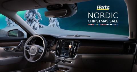 허츠가 북유럽 크리스마스 프로모션을 실시한다