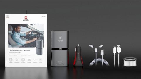 맥스컴코리아가 공기 정화와 급속 충전을 동시에 할 수 있는 프리미엄 차량용 공기청정기를 출시한다