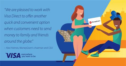 고객이 전 세계의 가족과 친구에게 송금할 때 또 하나의 빠르고 편리한 옵션을 제공하기 위해 비자와 협력