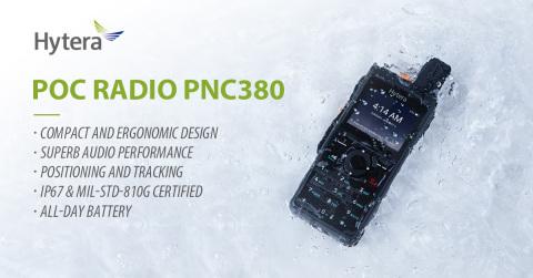 하이테라 PoC 무전기 신제품 PNC380