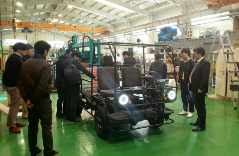 모헤닉 모터스 0.5톤 전기 상용차 플랫폼 전면