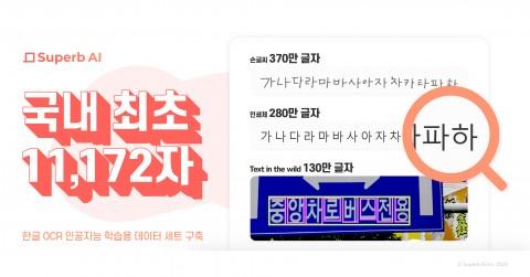 한국어 글자체 이미지 AI 데이터 세트는 AI 허브에 공개되어 있다