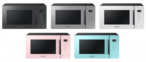 삼성전자가 비스포크 색상을 입은 전자레인지 신제품을 출시했다