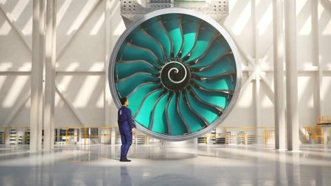 롤스로이스가 차세대 울트라팬 시험 엔진 위한 복합재로 제작된 세계에서 가장 큰 팬 블레이드를 생산한다