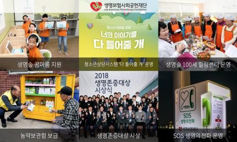 생명보험재단이 2019년 사업 성과를 공개했다