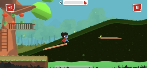 In the free game app, children will take on The Kidney Kid persona to collect foods and drinks that ...