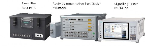 Shireld Box MA8161A와 Radio Communication Test Station MT8000A, Signaling Tester MD8475B
