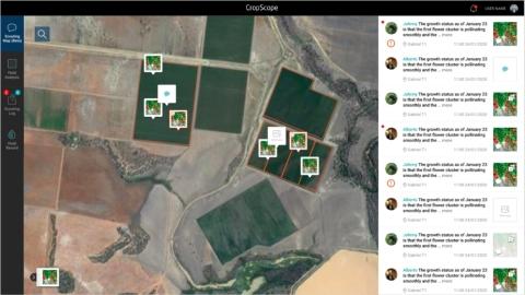 농민을 위한 농장 관리와 정보 집약적 포털