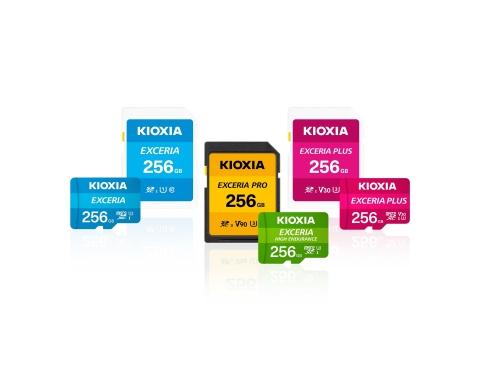 KIOXIA 브랜드의 마이크로SD/SD 메모리 카드