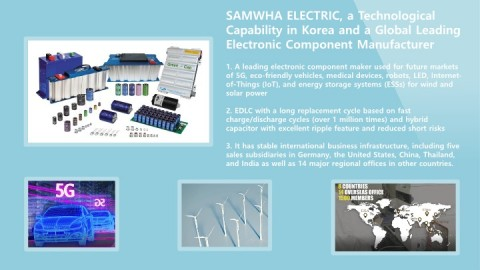 SAMWHA ELECTRIC draws attention in the world electronics market by launching a conductive polymer hy...