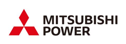 미쓰비시 파워 기업 브랜드 로고