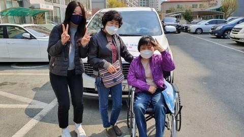 새빛콜이 지원한 제21대 국회의원선거 투표도움차량