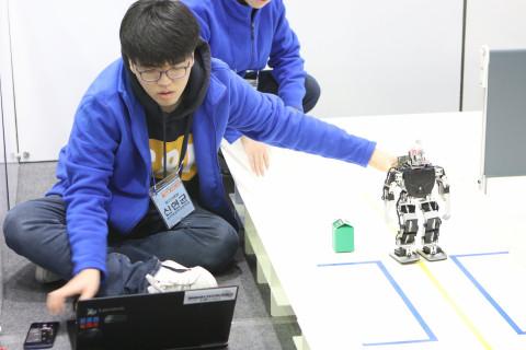 제18회 임베디드SW경진대회 결선 경기부문 '지능형 휴머노이드'