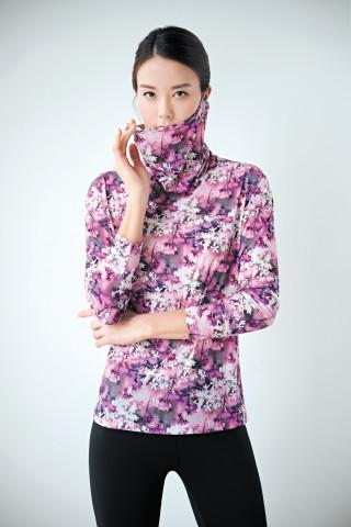 레드페이스 UV 블로섬 마스크넥 우먼 티셔츠