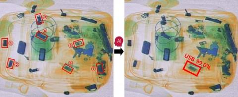 LG CNS AI로 가방안에 숨은 USB를 찾고 있다