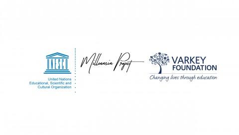 밀렌아시아, 유네스코, 바키재단의 프로젝트 로고