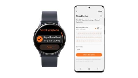 갤럭시 워치 액티브2 삼성 헬스 모니터 앱 심전도 측정