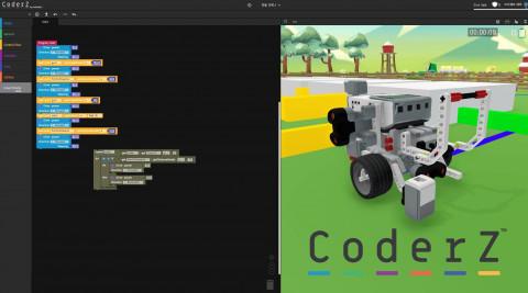 CoderZ 코딩교육 진행 화면