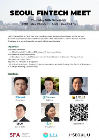 Seoul Fintech Lab holds the online 'Seoul Fintech Meet' with Singapore Fintech Association. The onli