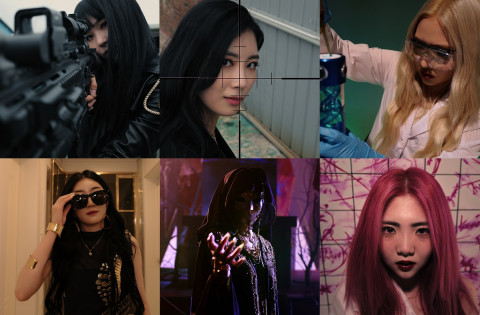앨범 'ZERO'의 오프닝 트레일러 캡처. 왼쪽부터 크랙시 멤버 혜진, 우아, 수안, 카린, 채이