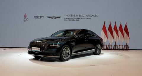 G20 발리 정상회의 VIP 차량으로 제공되는 G80 전동화 모델