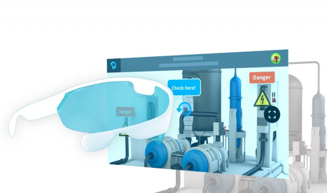 MAXWORK 다이렉트는 증강기술을 이용한 매뉴얼 서비스이다