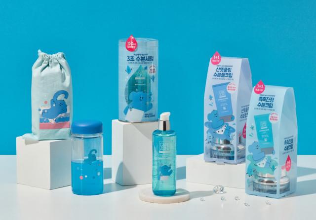 케어존X나봉 작가 노르데나우 워터 라인 끼리 컬래버레이션 제품