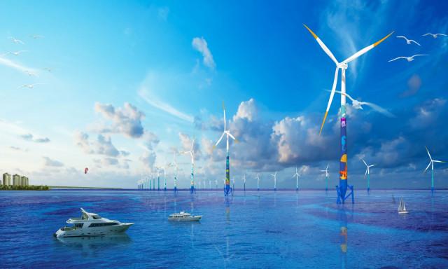 한미글로벌이 100MW급의 새만금 해상풍력 건설사업 PM용역을 수주했다