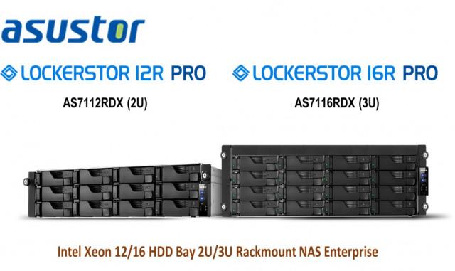 왼쪽부터 아수스토어의 2U 12-Bay AS7112RDX와 3U 16-Bay 모델 AS7116RDX